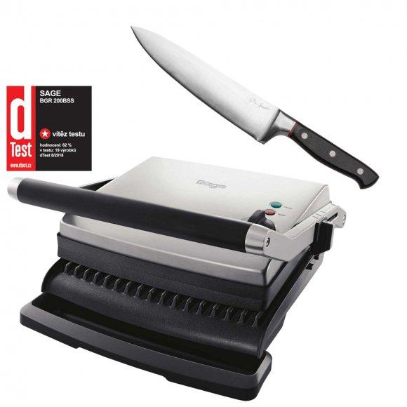 Kontaktní gril SAGE  BGR200 + Kuchařský nůž LT2115