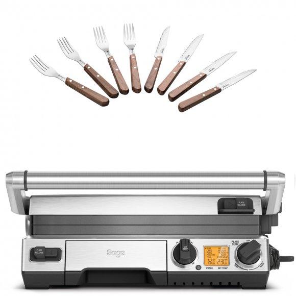 BGR840 Kontaktní gril SMART SAGE + Steakové příbory LT2062 ZDARMA