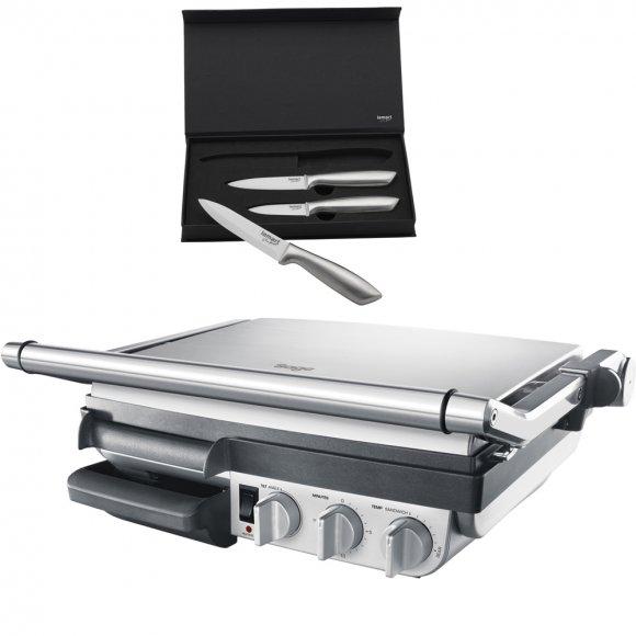 Kontaktní gril SAGE 800GR + SET Nožů LT2006